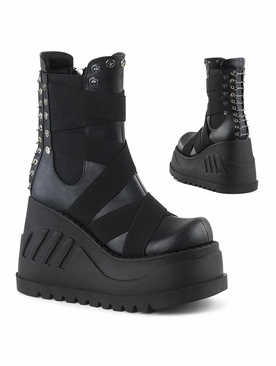 Pleaser Stomp-25 Platform Mid-Calf Boot