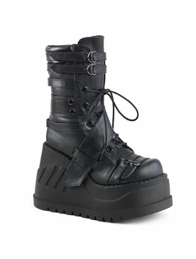 Pleaser Stomp-26 Lace-Up Mid-Calf Boot