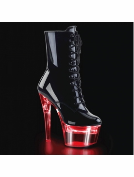 Pleaser Stripper Boot Flashdance-1020-7 Chargeable Lace Up Ankle Boot
