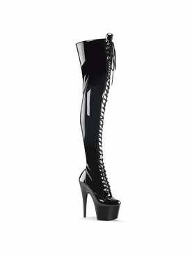 Pleaser Stripper Boots Adore-3023 Stretch Thigh High Boot