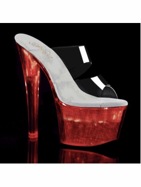 Pleaser Stripper Shoes Flashdance-702CH Chargeable Heels
