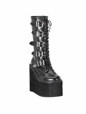 Pleaser Swing-220 Buckle Platform Boot