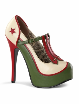 Pleaser Teeze-43 Military Themed Pump