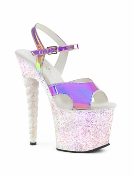 Pleaser Unicorn-711LG Exotic Dancer Ankle Strap Sandal