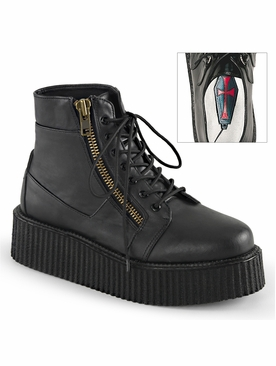 Pleaser V-Creeper-571 Men's Lace-Up Front Creeper Bootie