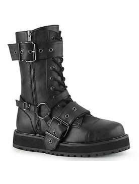 Pleaser Valor-220 Men's Lace up Mid-Calf Boot