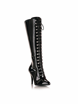 Pleaser Vanity-2020 Knee High Boot with Elasticated Panel