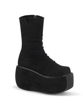 Demonia Violet-100 Ankle Boot W/ Ruched Front