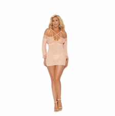 Plus Elegant Moments 44006X Long Sleeve Babydoll