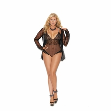 Plus Elegant Moments 44007X Polka Dotted Mesh Teddy