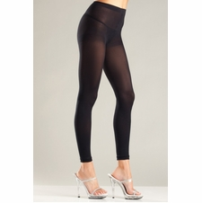Plus Opaque Footless Tights