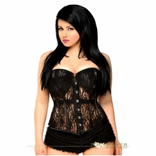 Plus Size Daisy TD-006 Black Lace Molded Cup Corset