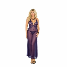 Plus Size Elegant 1961X Long Sheer Gown to 5X