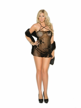 Plus Size Elegant Moments 1362Q Lace Babydoll And G-String