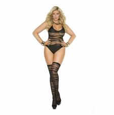 Plus Size Elegant Moments 1533Q Teddy With Stockings