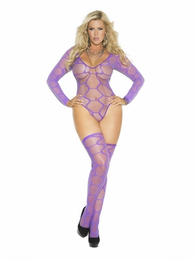 Plus Size Elegant Moments 1542Q Teddy With Stockings