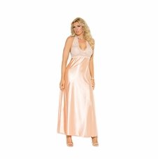 Plus Size Elegant Moments 1969X Halter Neck Gown