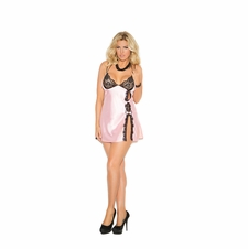 Plus Size Elegant Moments 4134X Charmeuse BabyDoll Set