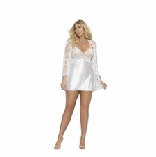 Plus Size Elegant Moments 4246X Charmeuse Chemise W/Jacket