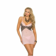Plus Size Elegant Moments 4293X Mesh And Lace Babydoll