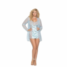 Plus Size Elegant Moments 4352X Lace Babydoll W/Satin Panels