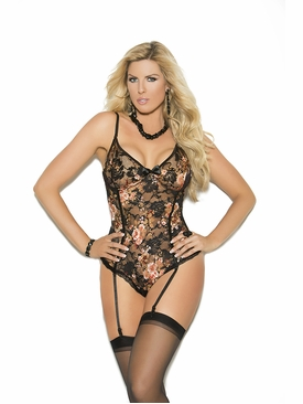 Plus Size Elegant Moments 7205X Lace Teddiette