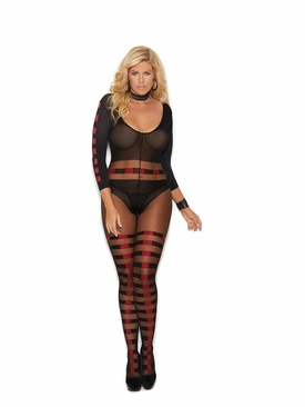 Plus Size Elegant Moments 82184Q Sheer Bodystocking