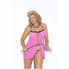 Plus Size Elegant Moments 8585Q Mesh Babydoll