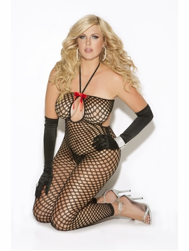 Plus Size Elegant Moments 8590Q Crochet Bodystocking