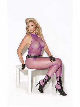 Plus Size Elegant Moments 8634Q Fishnet Bodystocking