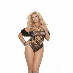 Plus Size Elegant Moments 8722X Lace Teddy with Cutout Details