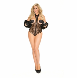 Plus Size Elegant Moments 8743X Lace Cupless Teddy