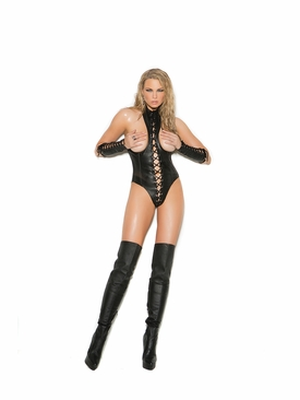 Plus Size Elegant Moments L2268X Leather Cupless Teddy
