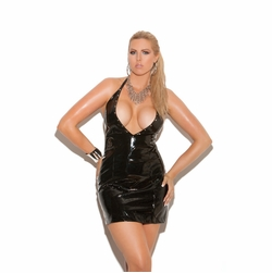 Plus Size Elegant Moments V8114X Vinyl Halter Dress