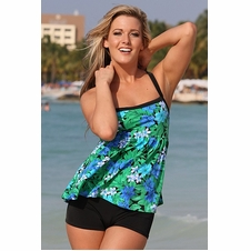 Plus Size Ujena Spa Botanico Tankini Plus Bathing Suit to 3X