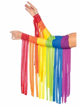 Rainbow Fringe Arm Warmers