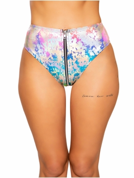 Rainbow Splash High Waisted Shorts