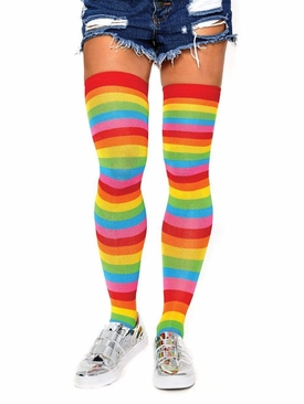 Rainbow Thigh Highs