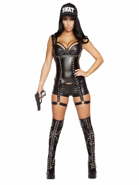 Roma 3pc Seductive SWAT Agent Roleplay Costume