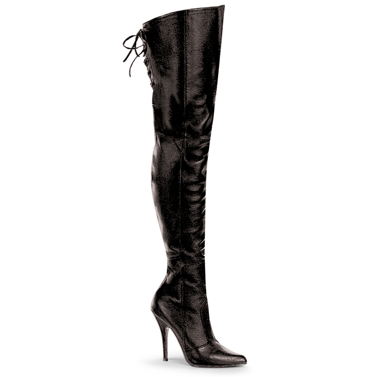 black thigh high boots 3 inch heel
