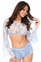 Daisy Corsets Sheer Lace Bell Sleeve Peasant Top Many Colors