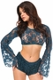 Daisy Corsets Sheer Lace Bell Sleeve Peasant Top Many Colors - image 7