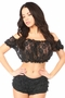 Sheer Lace Short Sleeve Peasant Top  Many Colors - image 3
