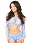 Sheer Lace Long Sleeve Peasant Top Many Colors