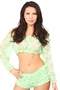 Sheer Lace Long Sleeve Peasant Top Many Colors - image 1