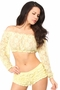 Sheer Lace Long Sleeve Peasant Top Many Colors - image 2