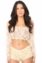 Sheer Lace Long Sleeve Peasant Top Many Colors - image 8