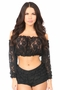 Sheer Lace Long Sleeve Peasant Top Many Colors - image 10