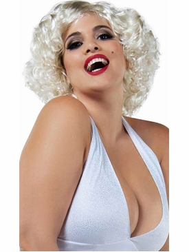 Short Blonde Curly Bob Wig