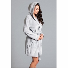 Starry Night Plush Short Robe